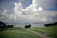 Clearwater Bay Golf Club - Clouds (Tomorrow Bystander) Tags: sky green grass clouds golf hongkong dusk path course casio bunker fairway cart exilim clearwaterbay saikung exfc100