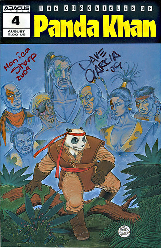 """The Chronicles of Panda Khan"" #4  Abacus Press..signed by Dave Garcia & Monica Sharp (( 1989 ))"