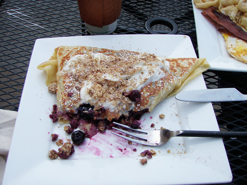 Blueberry Crepe with Granola