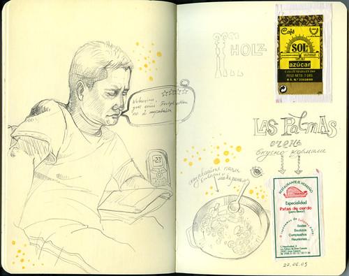 Gran Canaria, travel sketchbook 2009