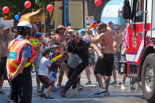 Waterfight at Denman and Comox
