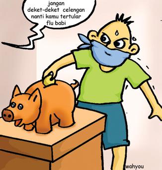Jasa Gambar Karikatur Digital Flu