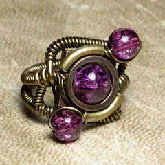 Steampunk Jewelry made by CatherinetteRings- purple (Catherinette Rings Steampunk) Tags: fiction canada fashion metal wire punk artist industrial purple mechanical quebec designer handmade montreal unique daniel victorian wrapped jewelry science bijoux retro steam ring jewellery rings fantasy copper scifi bead sciencefiction organic etsy artisan geekery steampunk neovictorian futurist proulx catherinetterings danielproulx