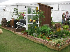SOGS Flower Show Best in Show allotment/garden (wonky knee) Tags: pond shed shrewsbury homemade greenhouse organic recycling allotment goldmedal 2009 greenroof bestinshow composting raisedbeds quarrypark shrewsburyflowershow teameffort shropshireorganicgardeners show2009