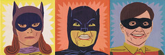 The Bat Brigade (Jack Teagle) Tags: robin portraits painting canvas batman batgirl acrylics adamwest crimefighters burtward yvonnecraig