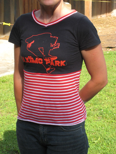 Maximo Park shirt refashion