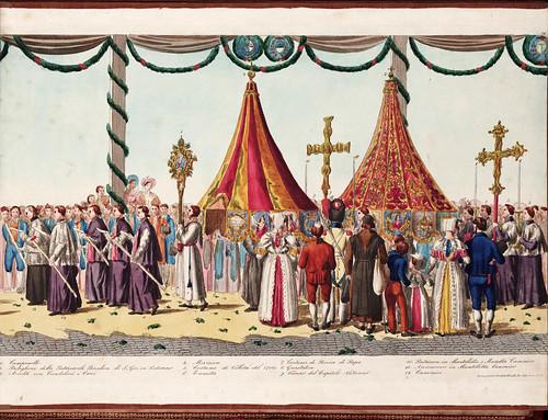 020 Solenne processione vaticana del Corpus Domini  diretta da uno de cerimonieri di Sua Santita` Gregorio XVI 1839