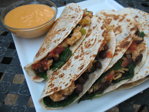 Black Bean & Spinach Quesadilla