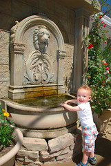 Quincy likes fountains *sigh*