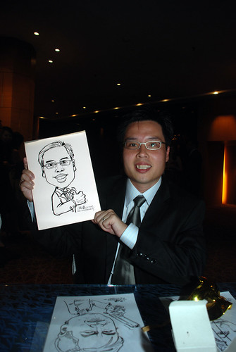 Caricature live sketching for The Law Society of Singapore - 1