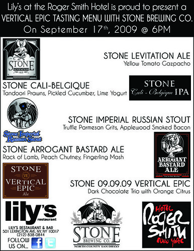 Stone Brewery Beer Dinner