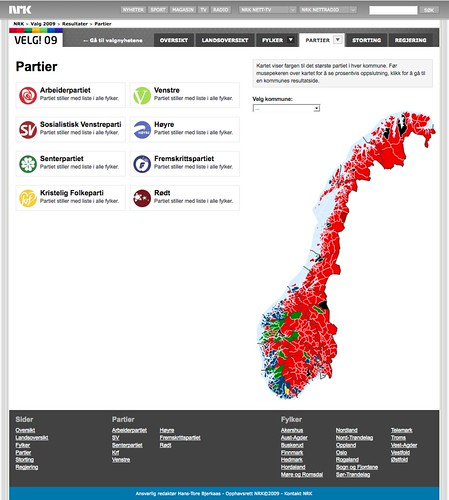 NRK - Valg 09 - Partier