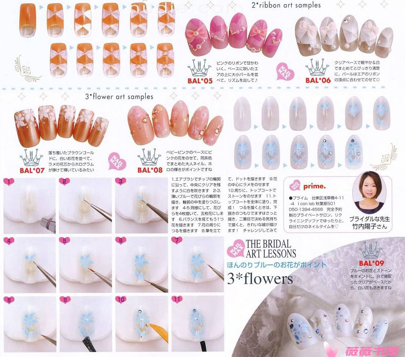 ekiBlog.com: Bridal nail art scans