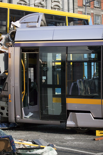 Luas Tram Crashes Into Bus - O'Connell Street Dublin