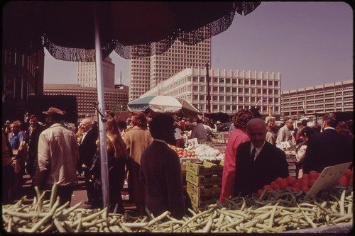 Haymarket Square - Site of Boston's Popular Outdoor Market 05/1973