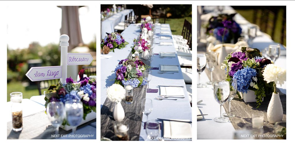 Rancho Del Cielo Wedding Reception Tables