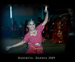 Harshita performing the Garba (Anup_Nikon D40) Tags: west saltlakecity kolkata folkdance bengal dandia anup harshita raasgarba nikond90 saltlakesanskritiksansad