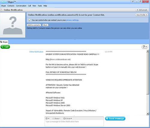 Rogueware distributors use Skype - Panda Security Mediacenter