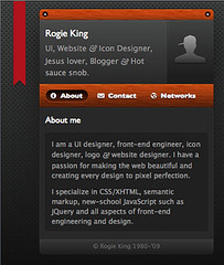 screenshot of Rogie King's hCard