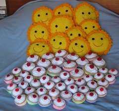Crochet Cakes and Mr Suns