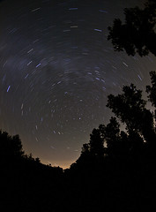 Virginia Stars (MikeMcGowan) Tags: night canon stars star virginia long exposure time fisheye explore trail astronomy astrology peleng8mmf35 50d