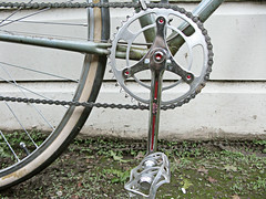 Freddie Grubb- Stronglight Cranks (*assemblylinecollective*) Tags: greatbritain english leather ava vintage 1950s british swallow ta grubb saddle campy atom cyclo hutchinson reynolds wrights stronglight huret campagnolo gransport clb lightrace gripfast clubracer mafac superchampion lyotard reynolds531 nervex freddiegrubb airlight fhgrubb
