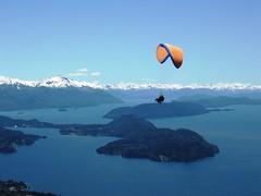 Volando Alto (Noelia Caram) Tags: blue sky patagonia lake snow mountains argentina azul lago nieve bariloche montaas parapente cerrootto ronegro concordians mostremosnuestraargentina travelsofhomerodyssey