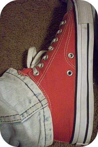 red brown white black thread metal carpet shoe ground shoelaces acidwashjeans