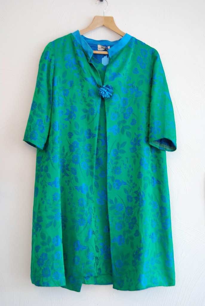 50s dress with matching house coat