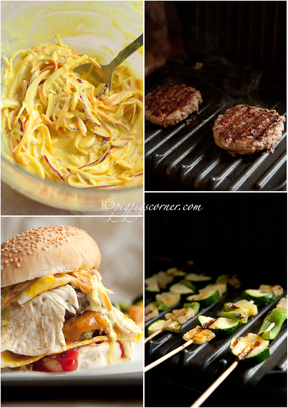 George Foreman grill - burgers