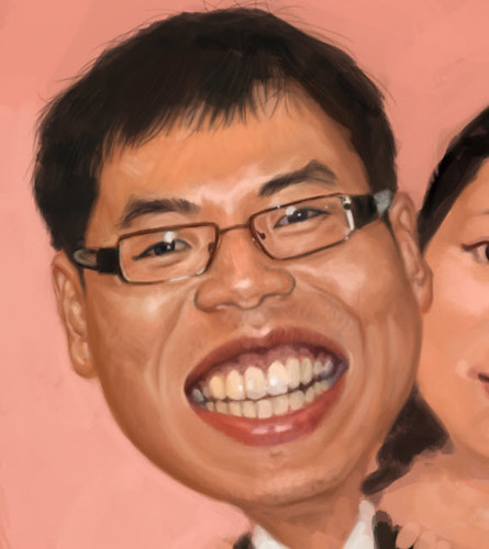 digital wedding couple caricatures - 2