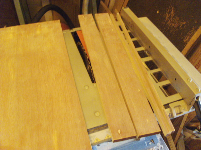 Cutting two wder pieces for quick shop project...