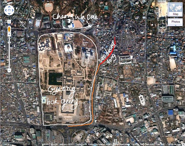samcheongdong map