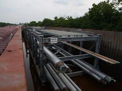 Refinery Modules (BilgeRat) Tags: lock lakemichigan bp whiting lockport towboats illinoisriver