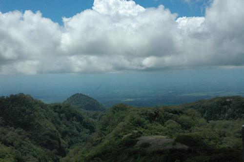 Kediri dilihat dari gunung kelud