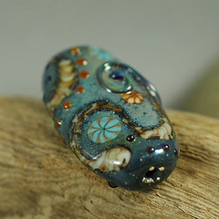 morning mist lampwork bead