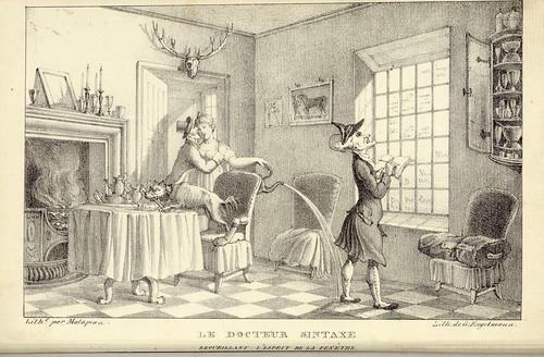 006- El doctor Sintaxis recopilando el espiritu de la ventana-1821
