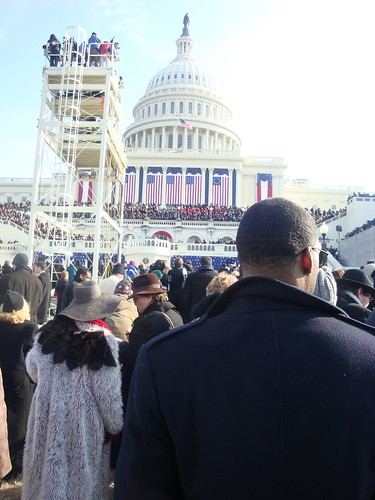ICON CEO Ellijah Shaw working at the 2009 Presidental Inauguration