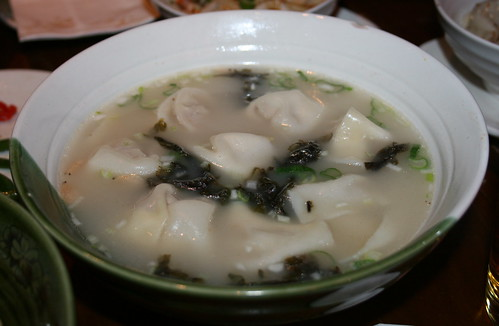 Chengdu crescent dumplings in a savoury broth