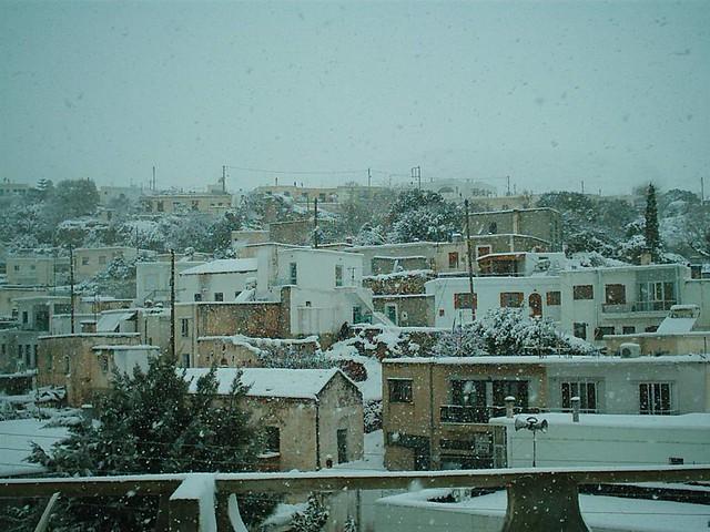 Κρήτη - Λασίθι - Δήμος Ιτάνου Χιόνια στη Ζάκρο