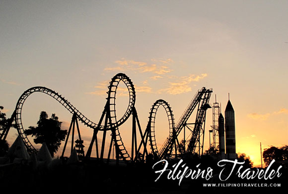 Enchanted Kingdom at sundown