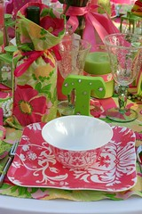Lilly Inspired Table (mclarecal) Tags: pink decorations party green dine tabledecor