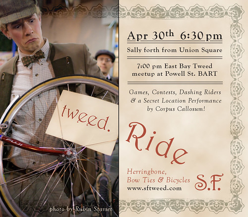 SF Tweed Ride, April 30th