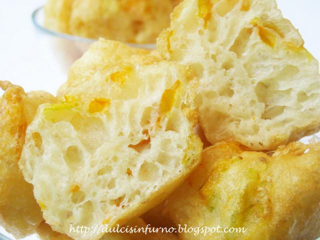 Frittelle ai Fiori di Zucca Lievitate - Interno