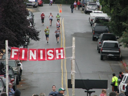 The finish line in Langley