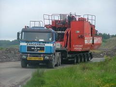 HEAVY HAULAGE & ABNORMAL LOAD ESCORTING (mallyhayne) Tags: ok excavator rh120c fentonmining