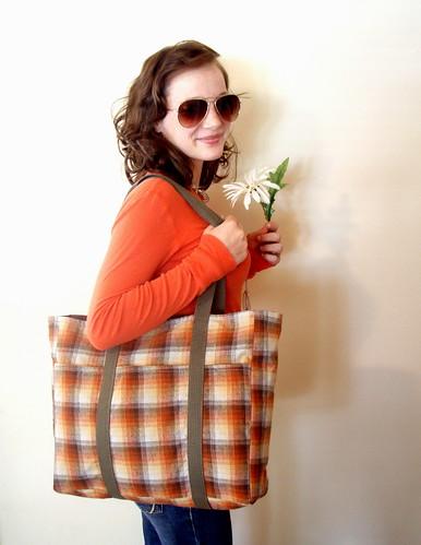 softspoken flannel tote