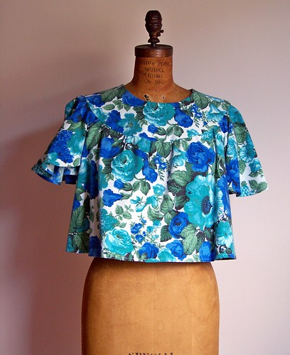 Blue Rose Top by you.