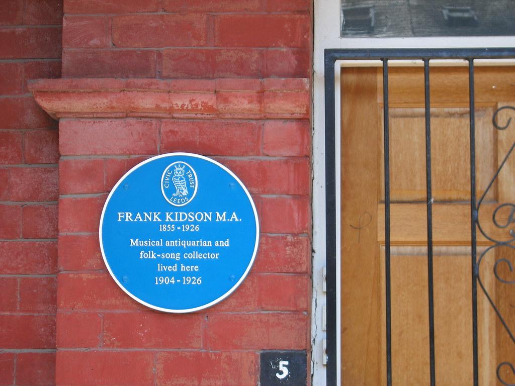 Photo of Frank Kidson blue plaque