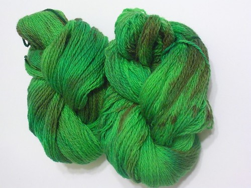 Dyed Green